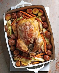 low low low carb  Herb-Roasted Chicken and Vegetables