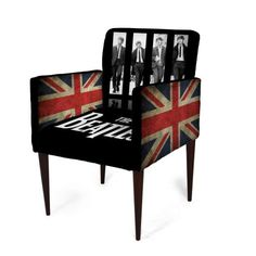 Cadeira Mademoiselle Plus Impressão Digital Imp Digital 103 Beatles