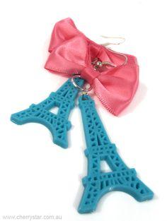 Eiffel Tower Bow Earrings