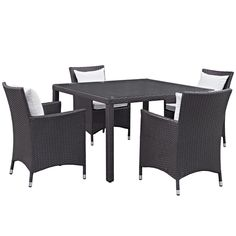 Convene 5 Piece Outdoor Patio Dining Set