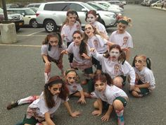 north rockland sparks travel soccer team girls under 10 played in halloween tournament in lyndhurst nj dressed as zombies costumes handmade by player mom