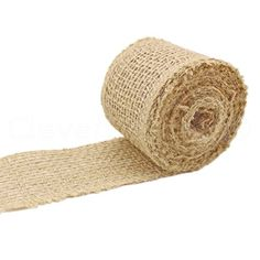 "CleverDelights 2"" Burlap Ribbon - Finished Edge - 50 Yards - Natural Color - Jute Burlap Craft Fabric ** Learn more by visiting the image link."