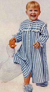 NEW! Nighty Night Bathrobe crochet pattern from Baby Book Crocheted & Knitted, Star Book No. 153.