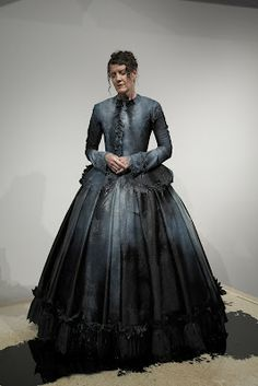 a very cool interpretation of victorian society and it's obsession with mourning dresscodes... Martha L. Mcdonald: The Weeping Dress http://marthalmcdonald.blogspot.com.au/2012/08/the-weeping-dress.html
