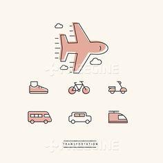 비행기, 오브젝트, 자동차, 교통, 오토바이, 자전거, 신발, 전철, 대중교통, 일러스트, freegine, 라인, illust, 아이콘…