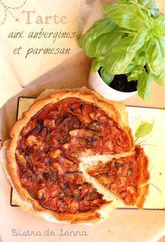 Tarte aux aubergines et parmesan