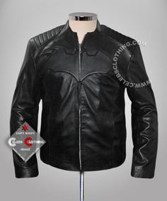 Batman Begins Christian Bale Real Leather Jacket  Big Saving on this Christmas for Everyone + Free Gifts for your Choice (Sunglasses, Wool Hat, Leather Wallet, Comic T-Shirt)