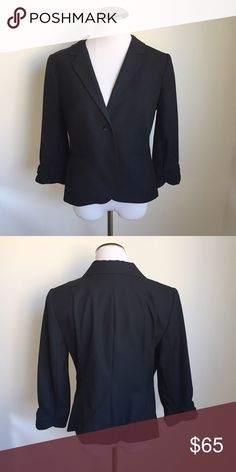 """The Limited Classic Black Blazer The Limited Classic Black Blazer.  Button closure.  Fully lined  Condition: no signs of wear   Size: medium   Approximate Measurements:  Across chest laying flat (underarm to underarm): 20"""" Total length from top of shoulder to hem: 24""""  Additional measurements available upon request.    Fabric:  Check out my closet, I have over 300 items.      👍🏻 Bundle and SAVE! 👍🏻 💕Reasonable offers considered 💕 🙅🏻🙅🏻 NO TRADES 🙅🏻🙅🏻 🚫🚫NO MODELING🚫🚫 The…"""