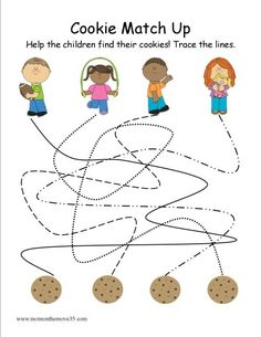 Chocolate Chip Cookies Line Trace