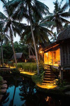 Part of the Udang House (or Shrimp House) at the Bambu Indah hotel in Ubud, Bali