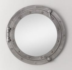 We're all about nautical tonight. A porthole mirror! Not too baby and cute for older child too! #carouseldesigns #pinparty