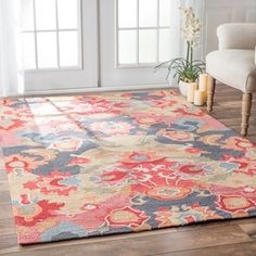 nuLOOM Handmade Carousel Multi Rug (7'6 x 9'6) - 15027737 - Overstock - Great Deals on Nuloom 7x9 - 10x14 Rugs - Mobile