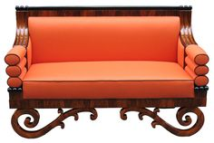 Circle of Josef Danhauser. Sides with a stick of 3 bolsters. Raised on a looped frame. Walnut veneered on pine. Furniture Styles, Unique Furniture, Furniture Design, Take A Seat, Love Seat, Biedermeier Sofa, Sofa Shop, Vintage Sofa, Modern Chairs