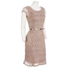 Nice Belted Crochet Knit Dress Dresses Women Burlington Coat Factory