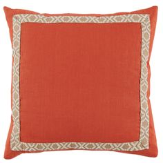 D946  Lacefield Spice Linen 24x24 Pillow with Camden Tape  www.lacefielddesigns.com #pillows #interiors #lacefielddesigns