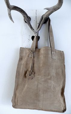 love this simple suede tote