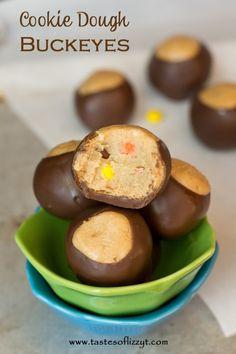 Buckeye Brownie Cookies >> by Tastes of Lizzy T's