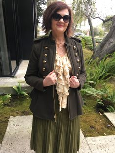 olive green military jacket: styled 3 ways... - Styling Fabulous