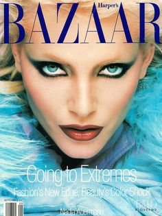 Nadja Auermann September 1994 Harper's Bazaar