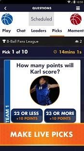 Play along with live sports – predict the outcome, win points for prizes & bragging rights
