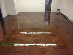 a designer epoxy floor  reflector shinny floor system by TriState Concrete resurfacing  www.tristatepictures.com