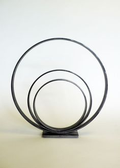 Steel Minimalist Abstract sculpture by artist Philip Melling titled: 'Loop IV (Commision Circles Steel Sculptures)' £250 #sculpture #art