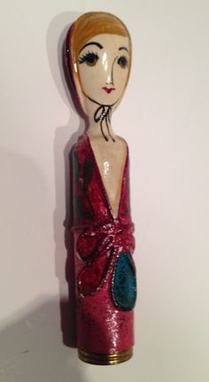 Figural lipstick case