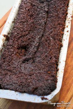 Receita de Bolo de Banana e Chocolatepara ver o modo de preparo, clique na imagem para ir ao Manga com Pimenta.