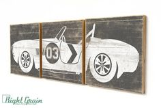 BRAND NEW! THIS LISTING IS FOR THE NEW LARGER SIZE! 16x48 SMALLER SIZE : www.etsy.com/listing/169560041/ DESIGN: Vintage Cobra Race Car AVAILABLE