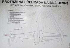 Na místě bývalé přehrady je vyznačena krátká naučná stezka s několika zastávkami. Toto je jedna z informačních tabulí. Personalized Items, Pictures