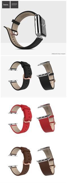#Classic Leather Apple Watch Band Black,fashion outfit for you.