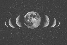 Uma ótima ideia para tattoo!! Sou apaixonada pela Lua e suas fases. <3