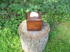 Red Oak Rustic reclaimed pallet wood Square Tissue Kleenex Box Cover Handmade