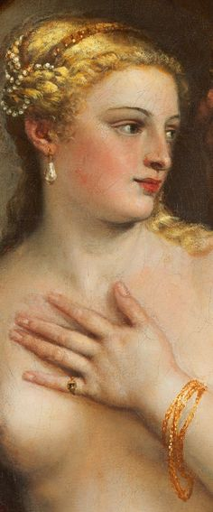 """Venus with a Mirror""  (detail)  Circa 1555 -- Titian -- Oil on canvas -- The National Gallery of Australia"