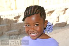 A Cornrowed Take on Traditional French Braids   Chocolate Hair / Vanilla Care