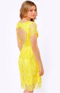 e9364bce0f7 Yellow lace wedding dress 12. Yellow Lace DressesCute DressesSummer ...