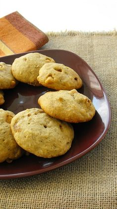 Banana Butterscotch Cookies (veganize with either a flax egg or leave egg out altogether, no butterscotch chips or find/make vegan chips & use vegan butter)