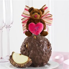 Milk Chocolate Walnut Pecan Coco Bear Jumbo Caramel Apple Gift | Mrs. Prindable's Valentine's Day Collection 2015