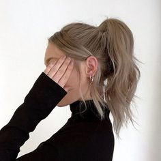 Hair Inspo, Hair Inspiration, Aesthetic Hair, Pretty Hairstyles, Ponytail Hairstyles, How To Do Hairstyles, Teenage Hairstyles, Straight Hairstyles, Wedding Hairstyles