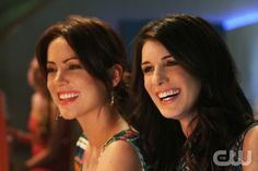"""A Tale of Two Parties""--LtoR: Jessica Stroup as Erin Silver and Shenae Grimes as Annie Wilson on 90210 on The CW. Photo: Scott Alan Humbert/The CW ©2012 The CW Network. All Rights Reserved."