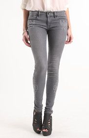 Embroidered Skinniest Jeans