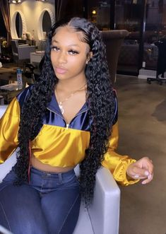 Frontal Hairstyles, Baddie Hairstyles, Weave Hairstyles, Curly Hair Styles, Natural Hair Styles, Camila Cabello Hair, Short Curly Cuts, Peinados Pin Up, Hair Quality