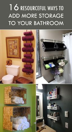 16 Resourceful Ways To Add More Storage To Your Bathroom ● Different ways to maximize the space in a small bathroom