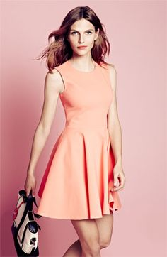 Bring it on, spring! Diane von Furstenberg is ready with this coral fit & flare dress.