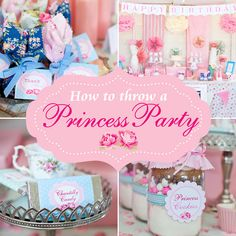 Princess Party DIY guide...  #Princess #HowTo