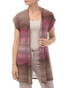 #GerryWeber Edition Formentera #vest tricot bruin / lila / roze