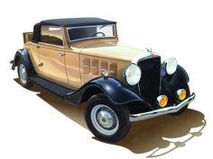 1933 Essex Hudson Terraplane Cabriolet With Fv Fog Lamps