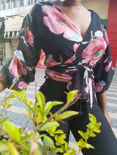 Flare Arm Floral Top