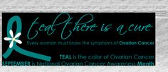 isnt it ironic cervical and ovarian cancer runs in my family....the color is teal...which is my favorit. i have no problem supporting this :)