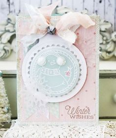 Winter Wishes Card by Melissa Phillips for Papertrey Ink (November 2014)